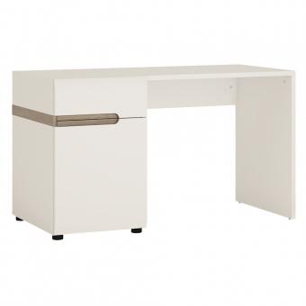 Стол письменный /TYP 80, LINATE ,цвет белый/сонома трюфель