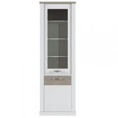 Шкаф с витриной 1V1D, PROVANS, цвет вудлайн крем/ дуб кантри