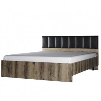 Кровать 160М, JAGGER, цвет Дуб монастырский /Черный