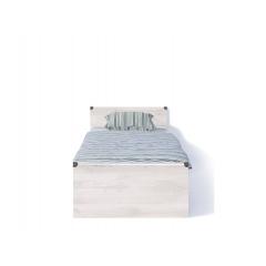 Кровать с металлическим основанием JLOZ 90 Сосна каньйон