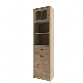Шкаф с витриной 1V1D1S2N/D1, DIESEL , цвет дуб мадура/веллингтон