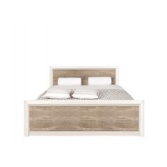 Кровать Коен 140х200 ясень снежный с металлическим основанием