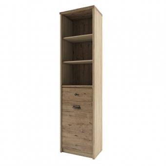 Шкаф открытый 1D1S/D1, DIESEL , цвет дуб мадура/веллингтон