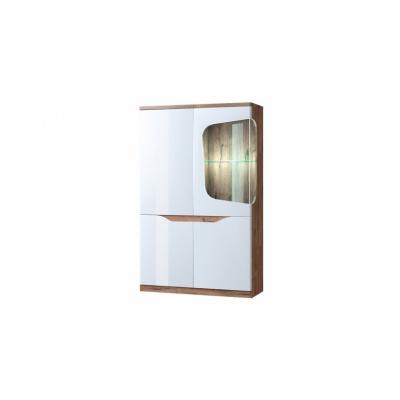 Шкаф с витриной 1V3D P (Эвора - Evora)