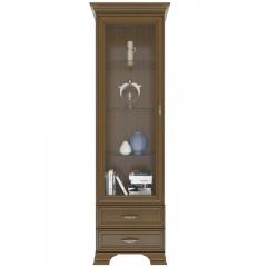 Шкаф с витриной 1V2S, TIFFANY, цвет каштан