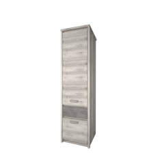 Шкаф 2D1S, JAZZ, цвет Каштан найроби/Оникс