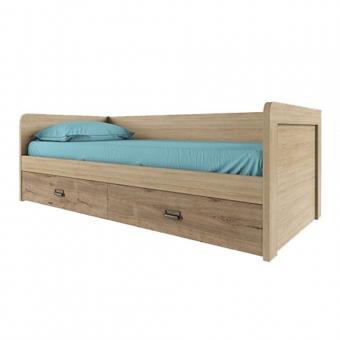 Кровать 90-2/D1, DIESEL , цвет дуб мадура/веллингтон