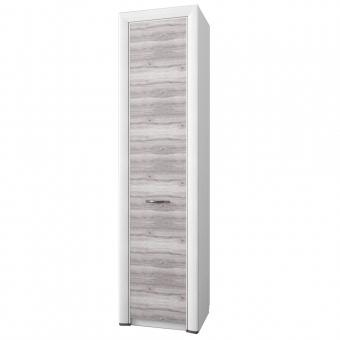 Шкаф 1DW, OLIVIA, цвет вудлайн крем/дуб анкона