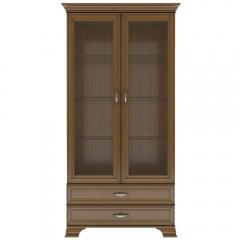 Шкаф с витриной 2V2S, TIFFANY, цвет каштан