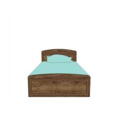 Кровать с металлическим основанием Салерно (Дуб тобакко) 120