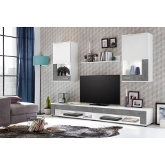 Набор корпусной мебели SQUARE, цвет белый/бетон