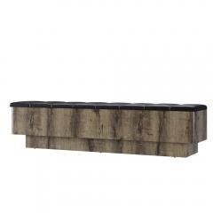 Скамья приставная 160, JAGGER, цвет Дуб монастырский /Черный