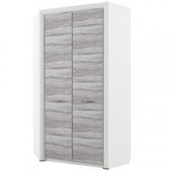 Шкаф угловой 2D, OLIVIA, цвет вудлайн крем/дуб анкона