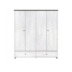 Шкаф платяной Порто SZF4D2S + 2полки
