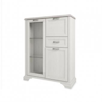 Шкаф с витриной 1V2D1S, MONAKO, цвет Сосна винтаж/дуб анкона