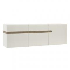 Шкаф навесной 3D/TYP 67, LINATE ,цвет белый/сонома трюфель