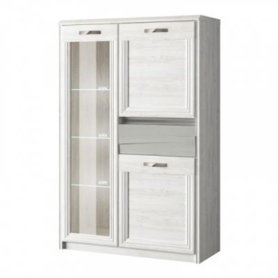 Шкаф с витриной 1V2D1S (Модена - MODENA)
