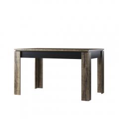 Стол раздвижной, JAGGER, цвет Дуб монастырский /Черный