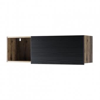 Полка навесная 1DN, JAGGER, цвет Дуб монастырский /Черный