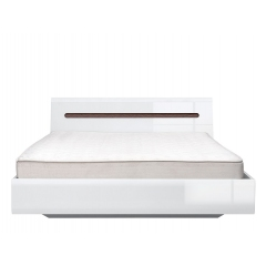 Кровать Ацтека (Azteca) 140x200 белый с металлическим основанием