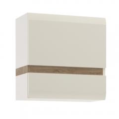 Шкаф навесной 1D/TYP 66, LINATE ,цвет белый/сонома трюфель