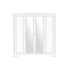 """Шкаф 4D(2S) """"Ясень снежный серебро"""""""