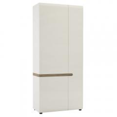 Шкаф 2D/TYP 20A, LINATE ,цвет белый/сонома трюфель