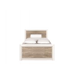 Кровать Коен 90х200 ясень снежный с металлическим основанием