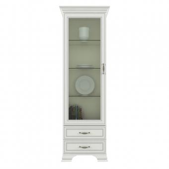 Шкаф с витриной 1V2S, TIFFANY, цвет вудлайн кремовый