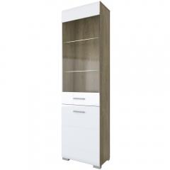 Шкаф с витриной 1V1D/TYP10,  CITY ,  цвет дуб кантри/глянец