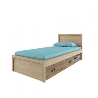Кровать 90/D1,DIESEL , цвет дуб мадура/веллингтон