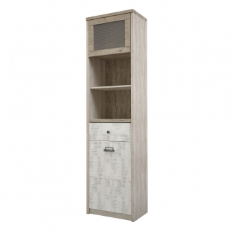 Шкаф с витриной 1V1D1S2N/D2,DIESEL , цвет дуб мадура/энигма