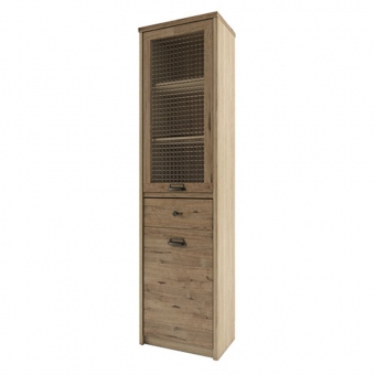 Шкаф с витриной 1V1D1S/D1, DIESEL , цвет дуб мадура/веллингтон