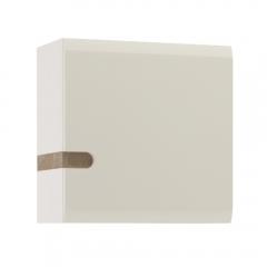 Шкаф навесной 1D/TYP 65, LINATE ,цвет белый/сонома трюфель