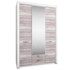 Шкаф 3D2S Z, OLIVIA, цвет вудлайн крем/дуб анкона