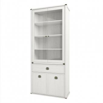 Шкаф с витриной 2V2D1S, MAGELLAN, цвет Сосна винтаж