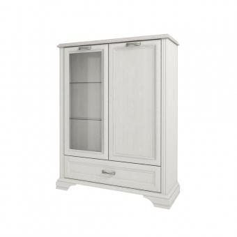 Шкаф с витриной 1V1D1SL, MONAKO, цвет Сосна винтаж/дуб анкона