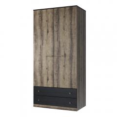 Шкаф 2DG2S, JAGGER, цвет Дуб монастырский /Черный