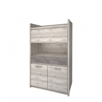 Шкаф 3D1SN, JAZZ, цвет Каштан найроби/Оникс