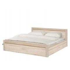 Кровать Август (August) 180х200 дуб сонома с выктными ящиками +основа ДСП