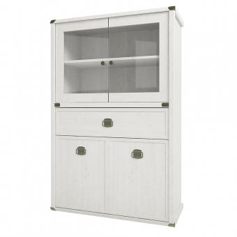 Шкаф с витриной 2V2D1SL, MAGELLAN, цвет Сосна винтаж