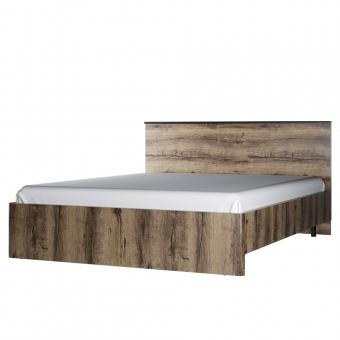 Кровать 160, JAGGER, цвет Дуб монастырский /Черный