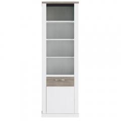 Шкаф открытый 1D, PROVANS, цвет вудлайн крем/ дуб кантри