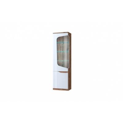 Шкаф с витриной 1V1D L (Эвора - Evora)