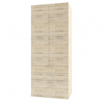 Шкаф 2D3S OSKAR , цвет дуб Санремо