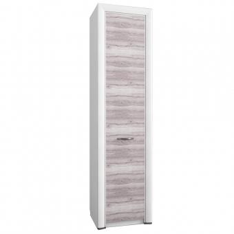 Шкаф 1D, OLIVIA, цвет вудлайн крем/дуб анкона