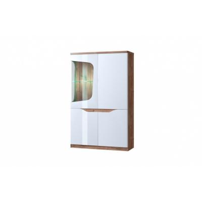 Шкаф с витриной 1V3D L (Эвора - Evora)