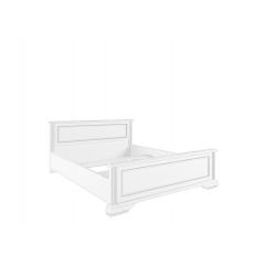 Кровать с металлическим основанием Вайт 140х200 серебро