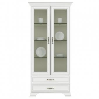 Шкаф с витриной 2V2S, TIFFANY, цвет вудлайн кремовый