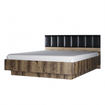 Кровать 160М с подъемником, JAGGER, цвет Дуб монастырский /Черный